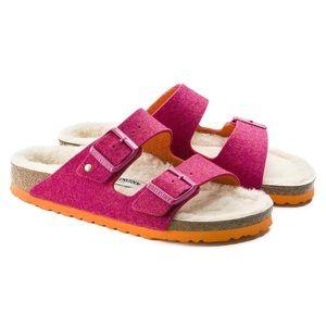 FP x Birkenstock Arizona Happy Lamb Sandals NWT